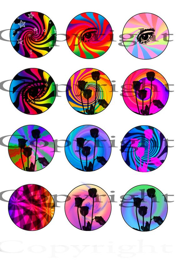 Downloadable images for scrapbooking bottle-cap by ImagesForCrafts