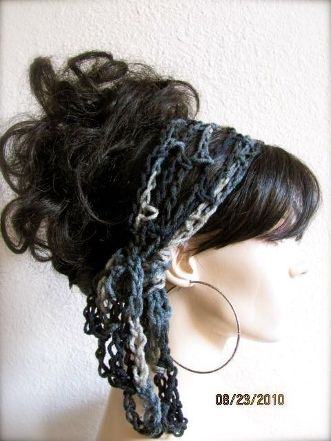 Crochet Gypsy Style Hair Band Pattern : hair scarfs GET 1 hair scarf FREE - Crochet Gypsy Style Hair Band ...