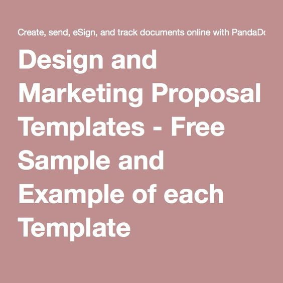 Design and Marketing Proposal Templates - Free Sample and Example - marketing introduction letter samples