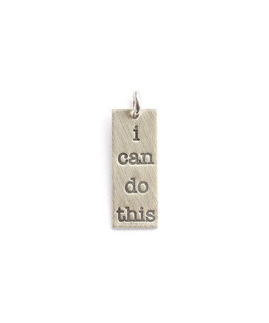 Sterling Silver Expressions 'I Can Do This' Charm #zulily #zulilyfinds: