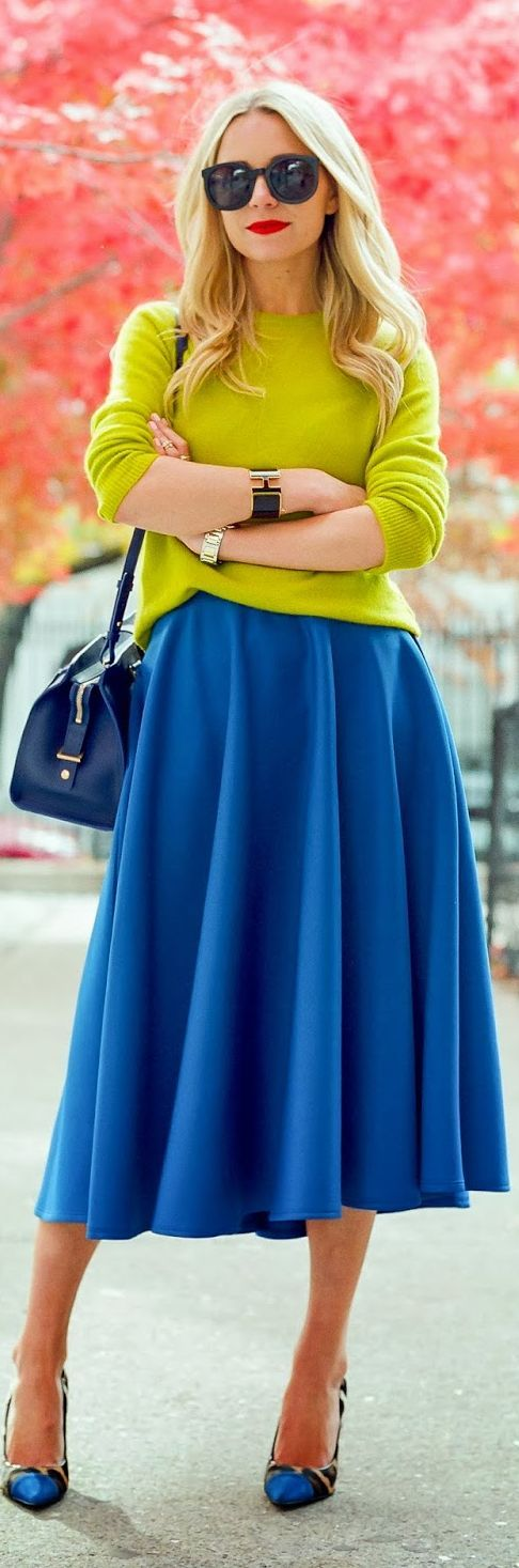 Lovely colors during the winter months. #fashion #style #chic