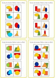 Lernstübchen: visuelle Wahrnehmung - Fehler finden (2)