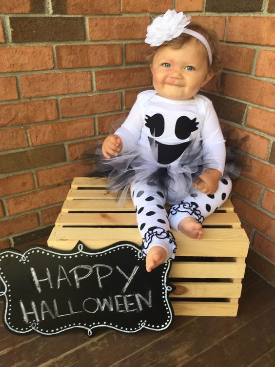 Baby girl ghost costume - babies first Halloween - baby girl Halloween costume - ghost costume by britswreaths on Etsy https://www.etsy.com/listing/278864046/baby-girl-ghost-costume-babies-first