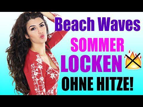 LOCKEN OHNE HITZE ÜBER NACHT OHNE FLECHTEN ⏰ NUR 5 MINUTEN | BEACH WAVES MIT VOLUMEN | KINDOFROSY - YouTube