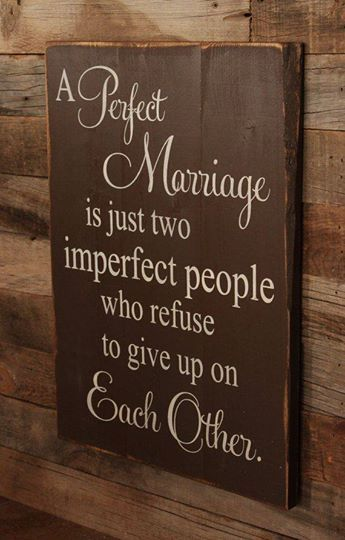 Perfect Marriage Sign: