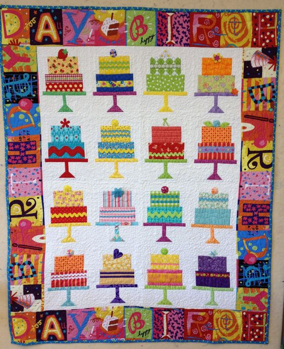 Happy Birthday Cake Quilt Pattern On Etsy, $9.25