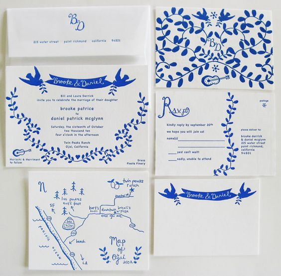 Elizabeth Hubbell stationery suite