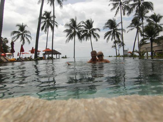 In the pool 10 meters from the ocean