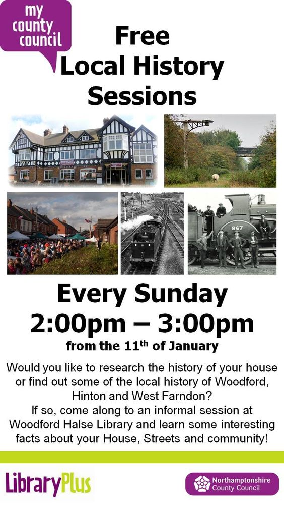 Free Local History Sessions Woodford Halse Library