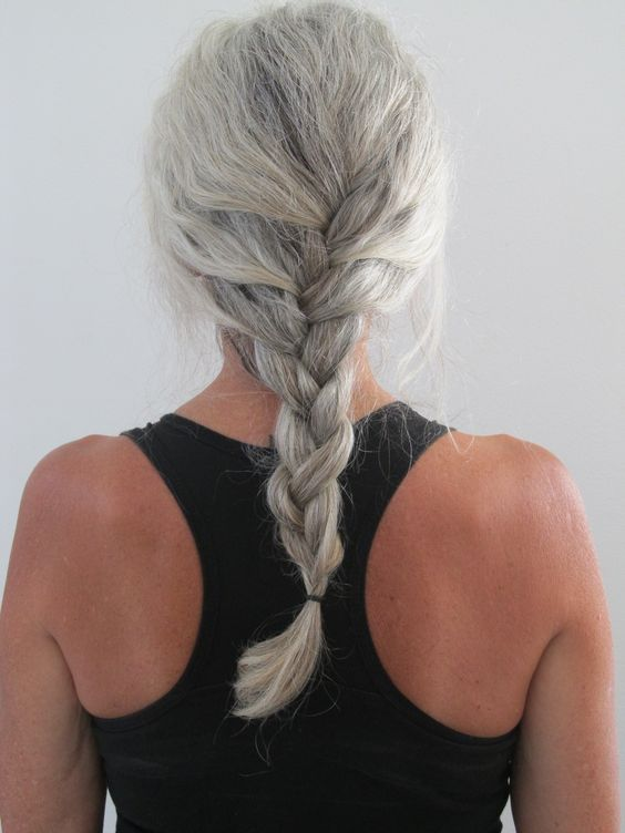 I have reached my goal of having a long silver braid..stopped coloring 3 years ago this October! Of course I want it longer..to my waist would be great!