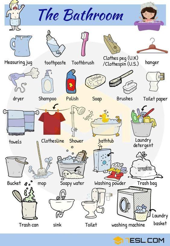Englisch Vokabeln Badezimmer Und Hygiene Englisch Vokabeln Lernen Vokabeln Lernen Lernen