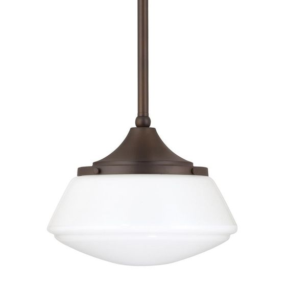 Capital Lighting Urban Theme Collection 1 Light Burnished Bronze Mini  Pendant