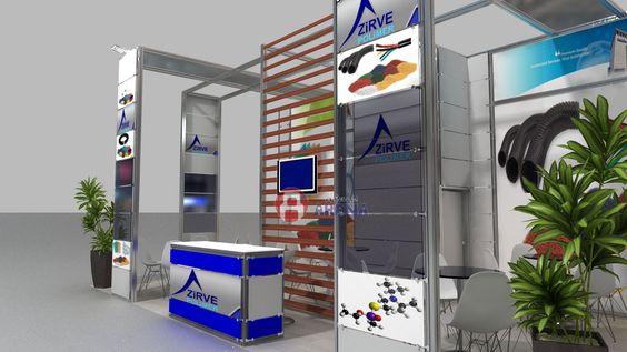 Zirve Polimer fair stand exhibition design 3d 3ds