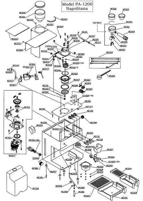 la pavoni napolitana parts diagram part diagrams pinterest : keurig parts diagram - findchart.co