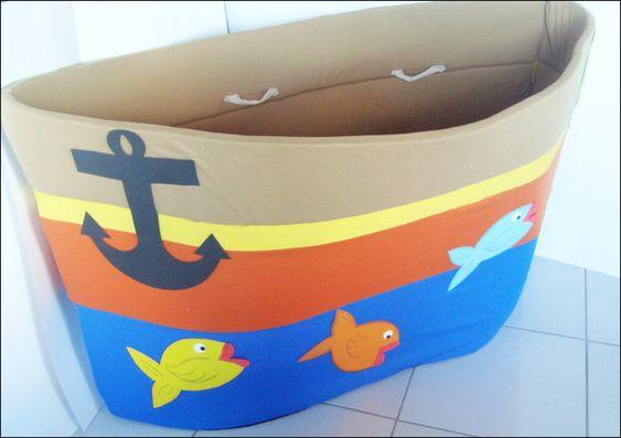 Barco Gigante | Todo confeccionado em espuma revestido por dentro e por fora com tecido decorado em EVA | Ótimo recurso usado para cânticos bem como para encenações teatrais e contação de histórias|