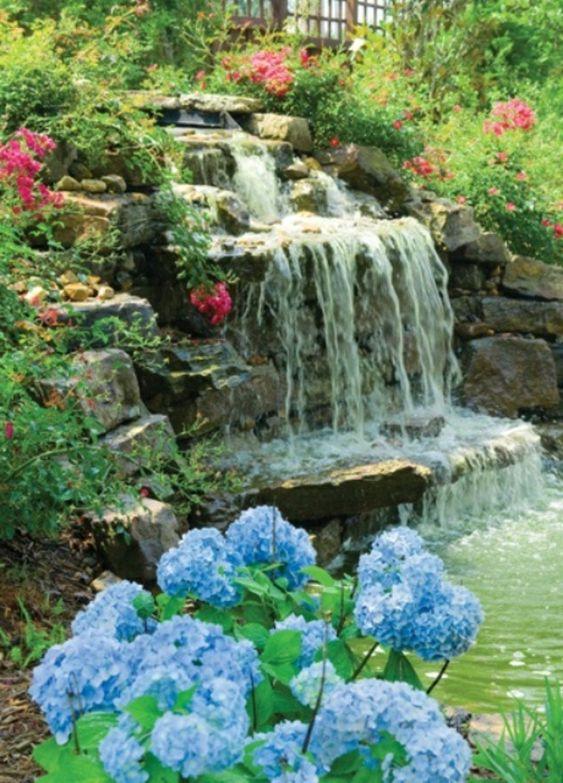 Cascade et fontaine de jardin 69 d co pour les moments de relaxe photos et zen - Pierre deco jardin castorama ...