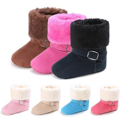Baby Boots Shoes Infant Newborn Girls Boys Winter Warm First Walkers Shoes Boots