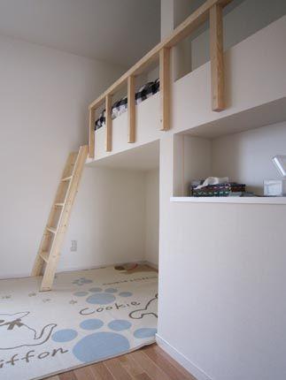 ロフトベッドを子供部屋に造作