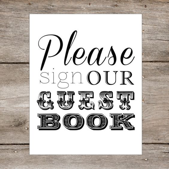 INSTANT DOWNLOAD - 8 x 10 DIY Printable - Guest Book Wedding Table Sign - Please sign our guestbook
