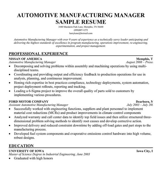 12 resume objective production manager riez sample resumes