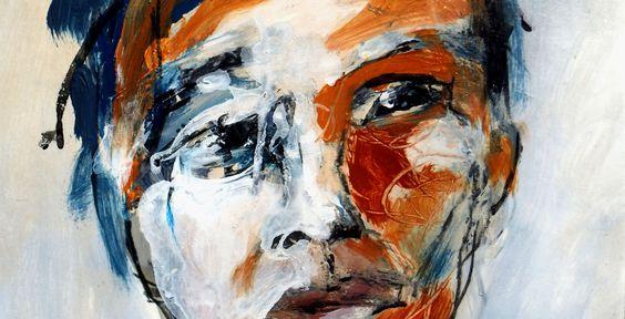 e ne serais jamais sage…. I would never be wise.... -détail - Acrylique sur papier, monté sur toile – 30 x 40 cm - J.J. Piezanowski -2014