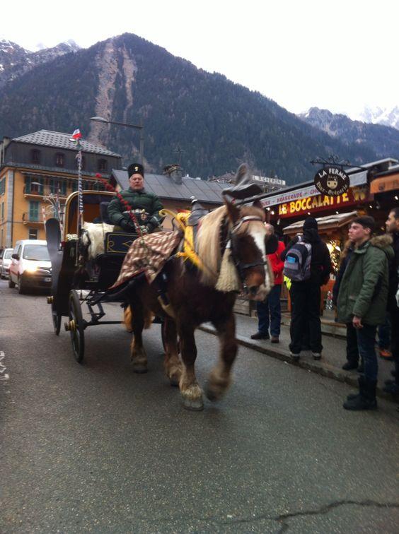 #horse drawn #carriage #chamonix #montblanc #myfroggy