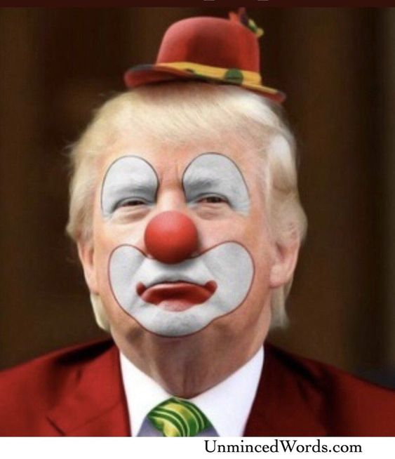 Clown Trump Art shared by UnMincedWords. Visit our store & see our shirt/mug designs here: or come straight to: UnMinced.com #politics #impeachment #trump #political #maga #america