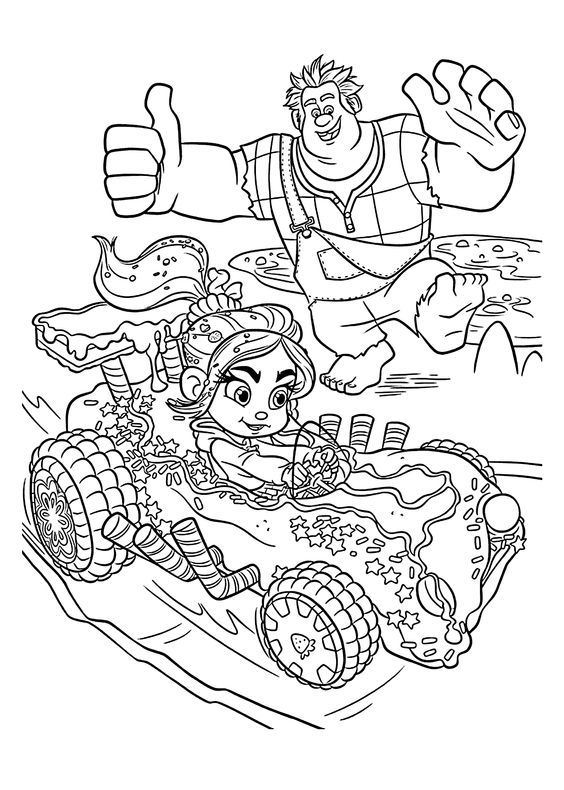 Nice sweet car coloring pages for