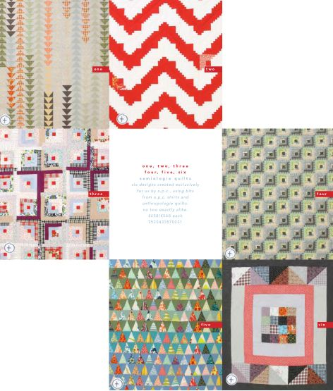 Saídos da Concha: Quilts & Quilting :: A.P.C. Quilts for Anthropologie