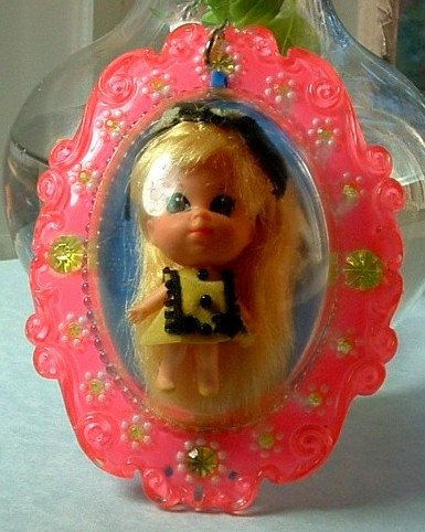 """1966 Liddle Kiddles """"Lucky Locket Kiddle"""" LOUISE Kiddle  - Vintage Original outfit 48 years Old 1966"""