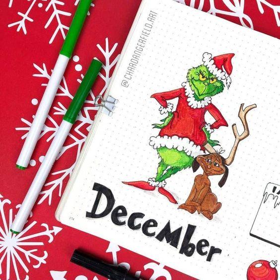 30 idées pour votre monthly cover de décembre - @chardangerfield.art on instagram