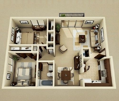 12 Examples Type 36 Home Interior Design For Your Inspiration Andri S Blog House Plans Small House Plans Latest House Designs