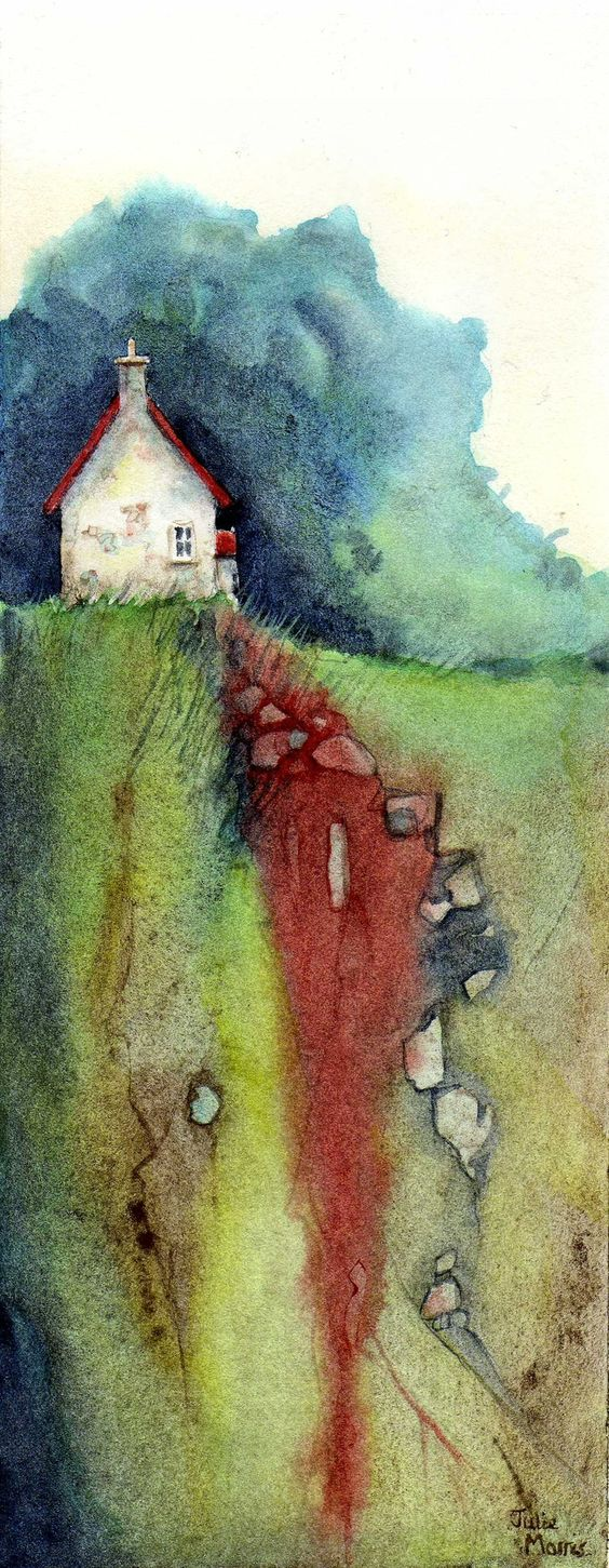 ARTFINDER: House on the Hill 2. by JULIE MORRIS - Playing with colour.