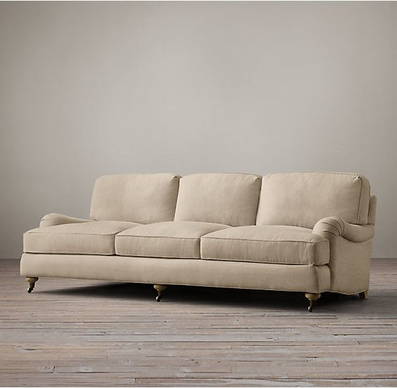 English Roll Arm Upholstered Sleeper Sofa Apartment