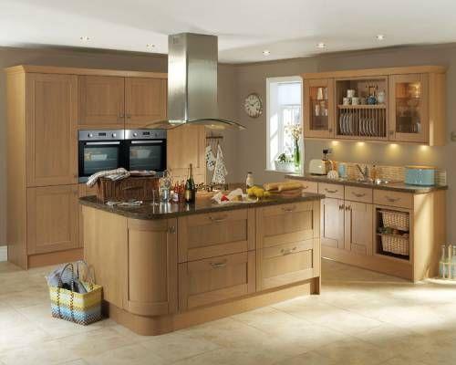 Light Oak Kitchen: Kitchen - Tewkesbury Light Oak,Lighting