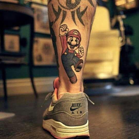 Maoritattoos Mario Tattoo Super Mario Tattoo Gaming Tattoo