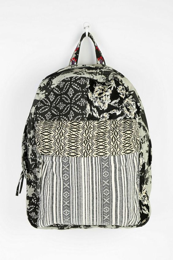 Ecote Mixed Pattern Backpack #urbanoutfitters
