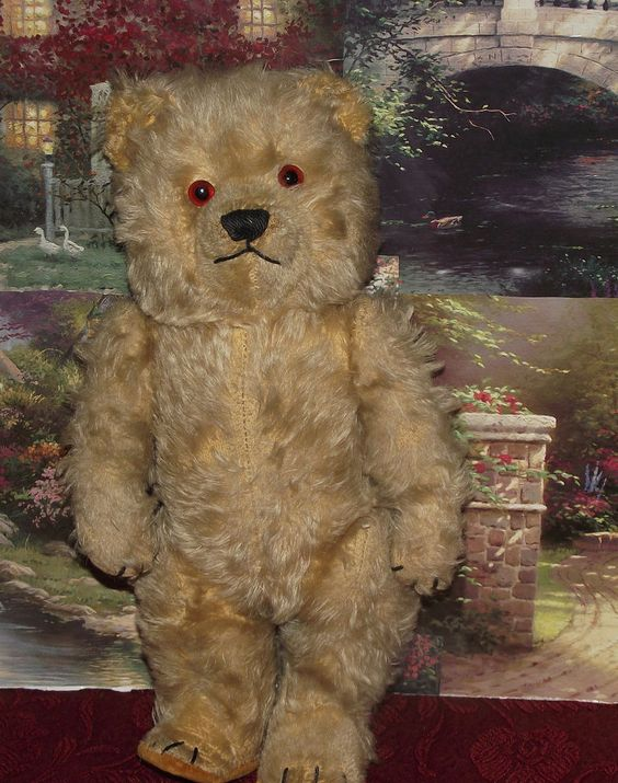 "ANTIQUE IVORY MOHAIR CHILTERN JOINTED TING A LING BEAR"" 13"" CIRCA 1950's  #Chiltern"