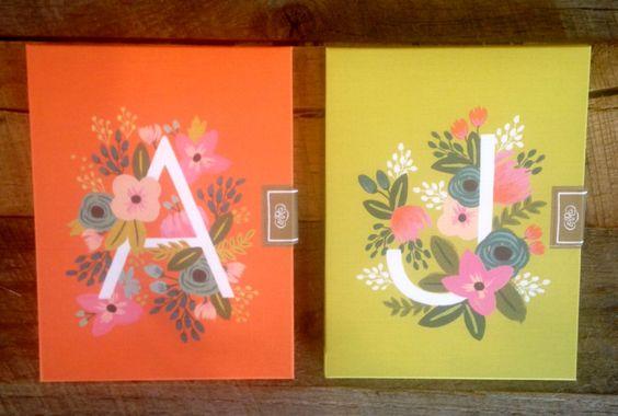 Floral Monogram Card Set
