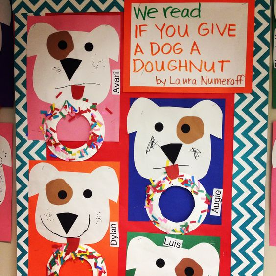 If you Give a Dog a Doughnut by Laura Numeroff craft. Bulletin board display.