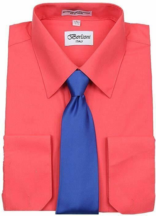 Men/'s Tuxedo Wing Tip Collar W// Bow-tie Dress Shirt Black Or White By Berlioni