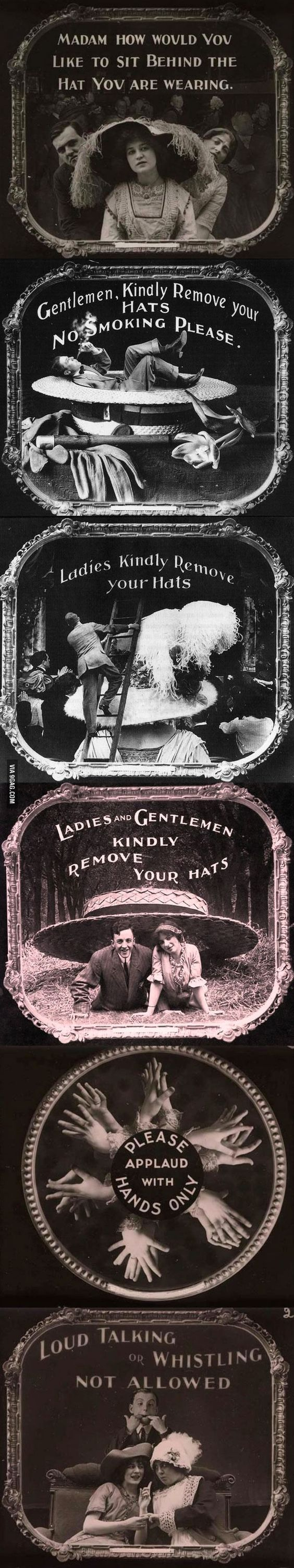 "The ""please silence your cell phones"" of the 1910s: etiquette warnings shown before silent movies"