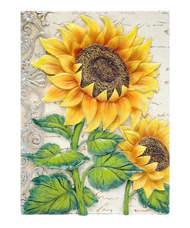 Take a look at this Right-Facing Sunflower Wall Art by New View on #zulily today!--$6.99--7/11/13