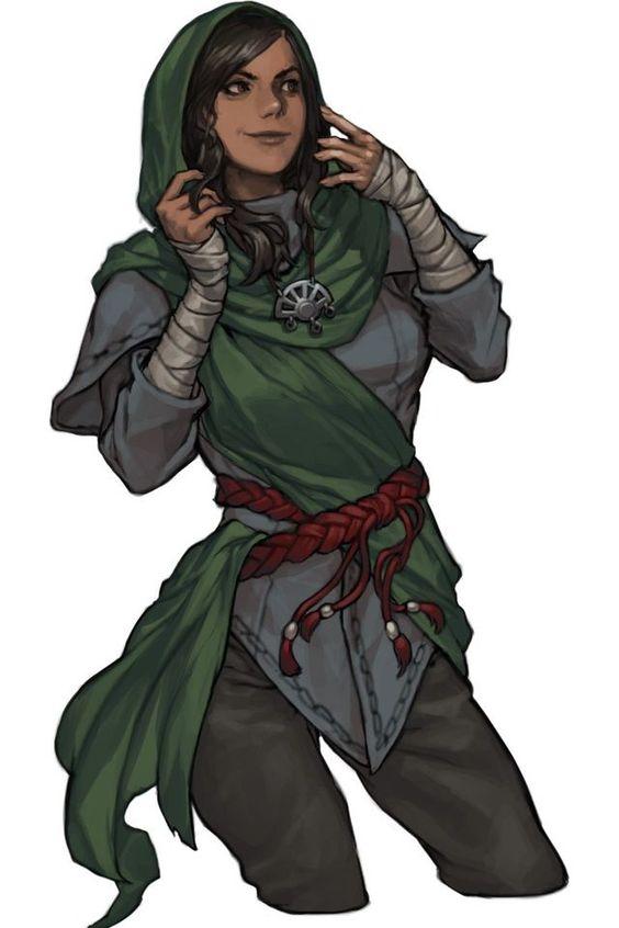 Yessenia Karimi, Halfling Monk - Myth-Weavers