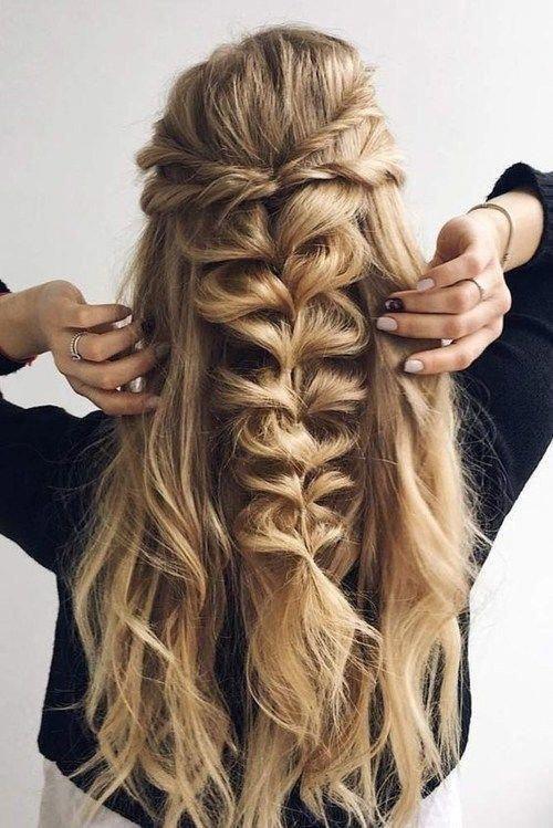 15 Prom Hair Ideas To Get You Super Pretty Moosie Blue In 2020 Long Hair Styles Braids For Long Hair Hair Styles
