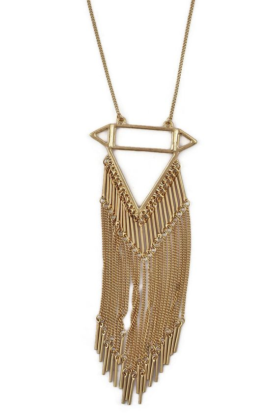 Turquesa Showers Necklace in Gold