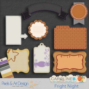 Fright Night Journaling Halloween is waiting for you !!!! This set is absolutely gorgeous, with its 8 journaling pieces.