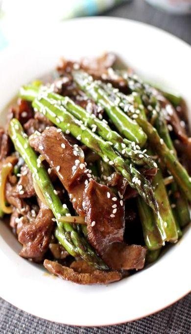 Beef and Asparagus Stir Fry | Food | Pinterest | Stir fry ...