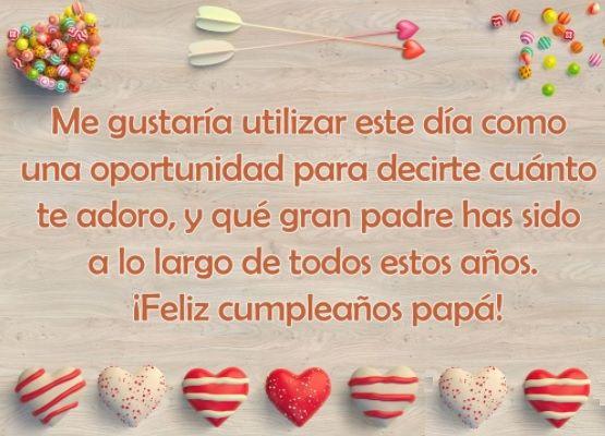 Mensajes De Feliz Cumpleaños Para Un Padre Ejemplar Frases