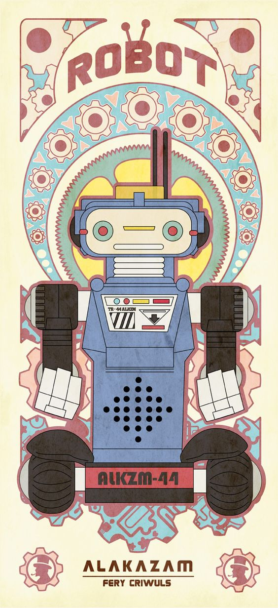 Vintage Robot by fery criwuls, via Behance